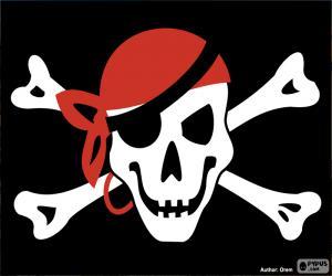Puzle Pirátská vlajka Jolly Roger