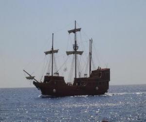 Puzle Pirátské lodi