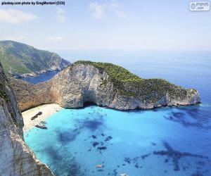 Puzle Pláž ztroskotání, Řecko