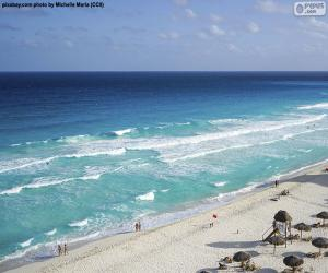 Puzle Pláže v Cancúnu, Mexiko