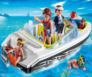 Puzle Playmobil motorový člun