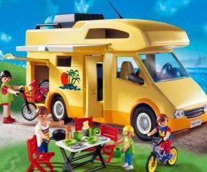 Puzle Playmobil Obytný vůz