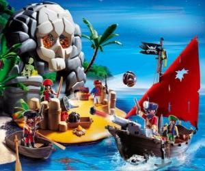 Puzle Playmobil Piráti Scene
