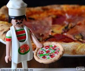 Puzle Playmobil pizza