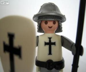Puzle Playmobil středověký voják