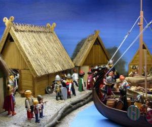 Puzle Playmobil vikinské obci