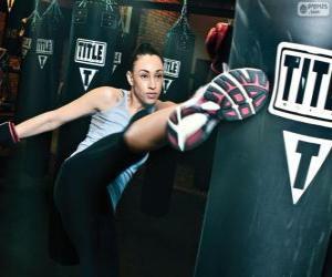 Puzle Plný kontakt nebo kickboxing hity stíhací výcvik na pytel