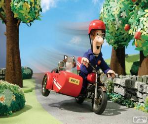 Puzle Pošťák Pat s jeho motocyklu