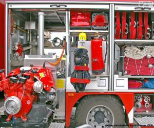 Puzle Požár kamionu zařízení