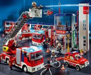 Puzle Požární stanice