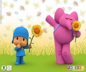 Puzle Pocoyo a Elly slon