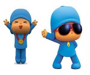 Puzle Pocoyo je mladý chlapec, hravé a zábavné, který je objevovat svět