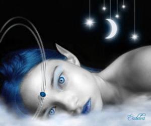 Puzle Pohádkové modré oči