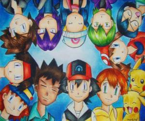 Puzle Pokémon Postavy