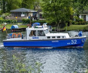 Puzle Policejní člun, Německo