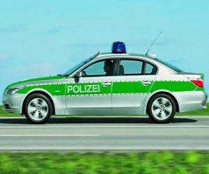 Puzle policejní auto - BMW E60 -