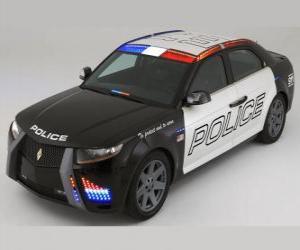 Puzle policejní auto