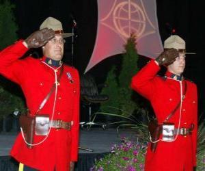 Puzle Policejní důstojník Královské kanadské jízdní policie