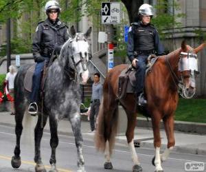 Puzle Policisté na koních