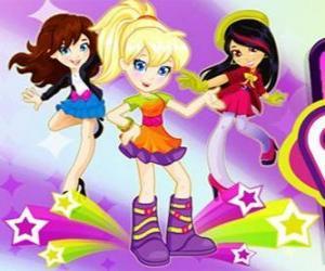 Puzle Polly tance s přáteli