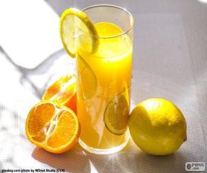 Puzle Pomerančové šťávy a citronu