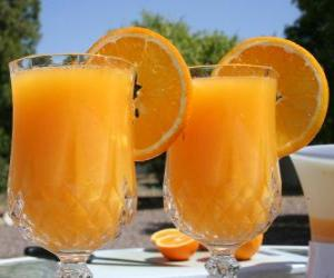 Puzle Pomerančový džus