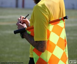 Puzle Pomezní rozhodčí fotbal
