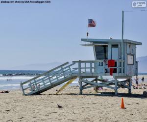 Puzle Pomocné a sledovací stanoviště na pláži