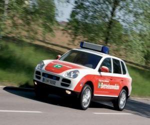 Puzle Porsche Cayenne Ambulance