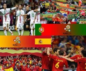 Puzle Portugalsko - Španělsko, semi-finále eura 2012