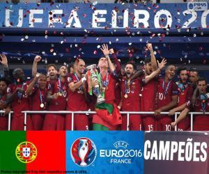 Puzle Portugalsko, mistr Euro 2016