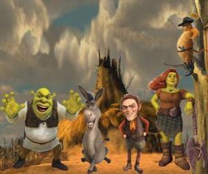 Puzle Postavy, v poslední film Shrek Forever Po