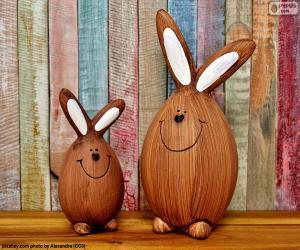 Puzle Postavy z velikonočních králíků