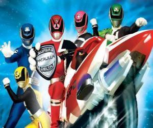 Puzle Power Rangers SPD. Space Patrol Delta