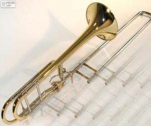Puzle Pozoun neboli trombón je žesťový hudební nástroj