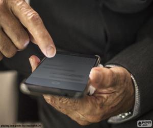 Puzle Práce s mobilní