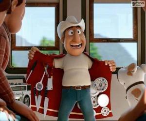 Puzle Průvodce peruánské Freddy zdá chodící obchod s víceúčelový plášť