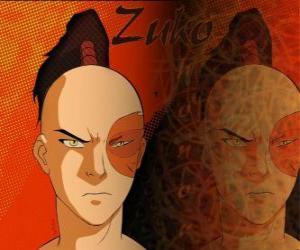 Puzle Princ Zuko je vypovězen z ohně národa a chce dobýt Avatar Aang obnovit svou čest
