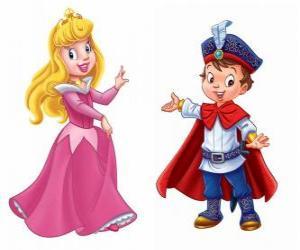 Puzle Princezna a princ mluví