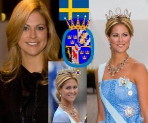 Puzle Princezna Madeleine Švédska