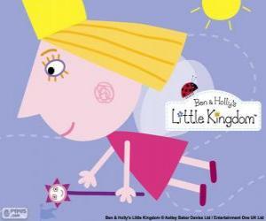 Puzle Princezna víla Holly s kouzelnou hůlkou