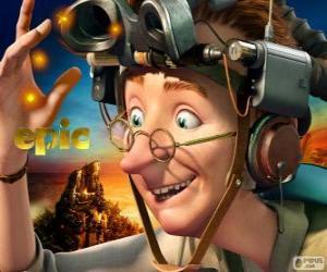 Puzle Profesor Bomba, výstřední vědec