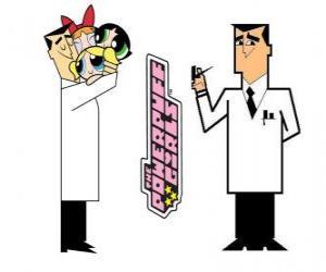 Puzle Profesor Utonium je tvůrcem Powerpuff Girls
