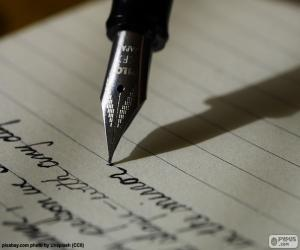 Puzle Psaní s plnicím perem