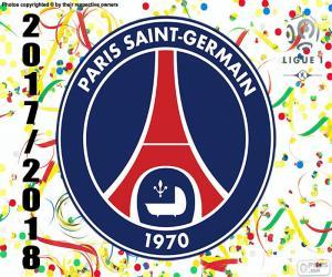 Puzle PSG, mistr Ligue 1 2017-2018