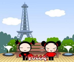 Puzle Pucca a Garu v Paříži