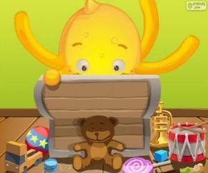 Puzle Pypus a jeho hračky box
