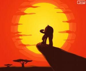Puzle Pypus na skále krále jako Simba, Lví král