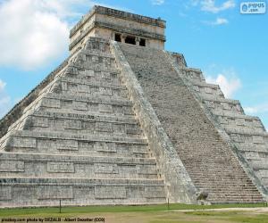 Puzle Pyramida Kukulcan, Mexiko