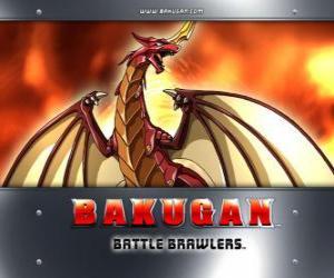 Puzle Pyrus Drago je Bakugan strážce Dan